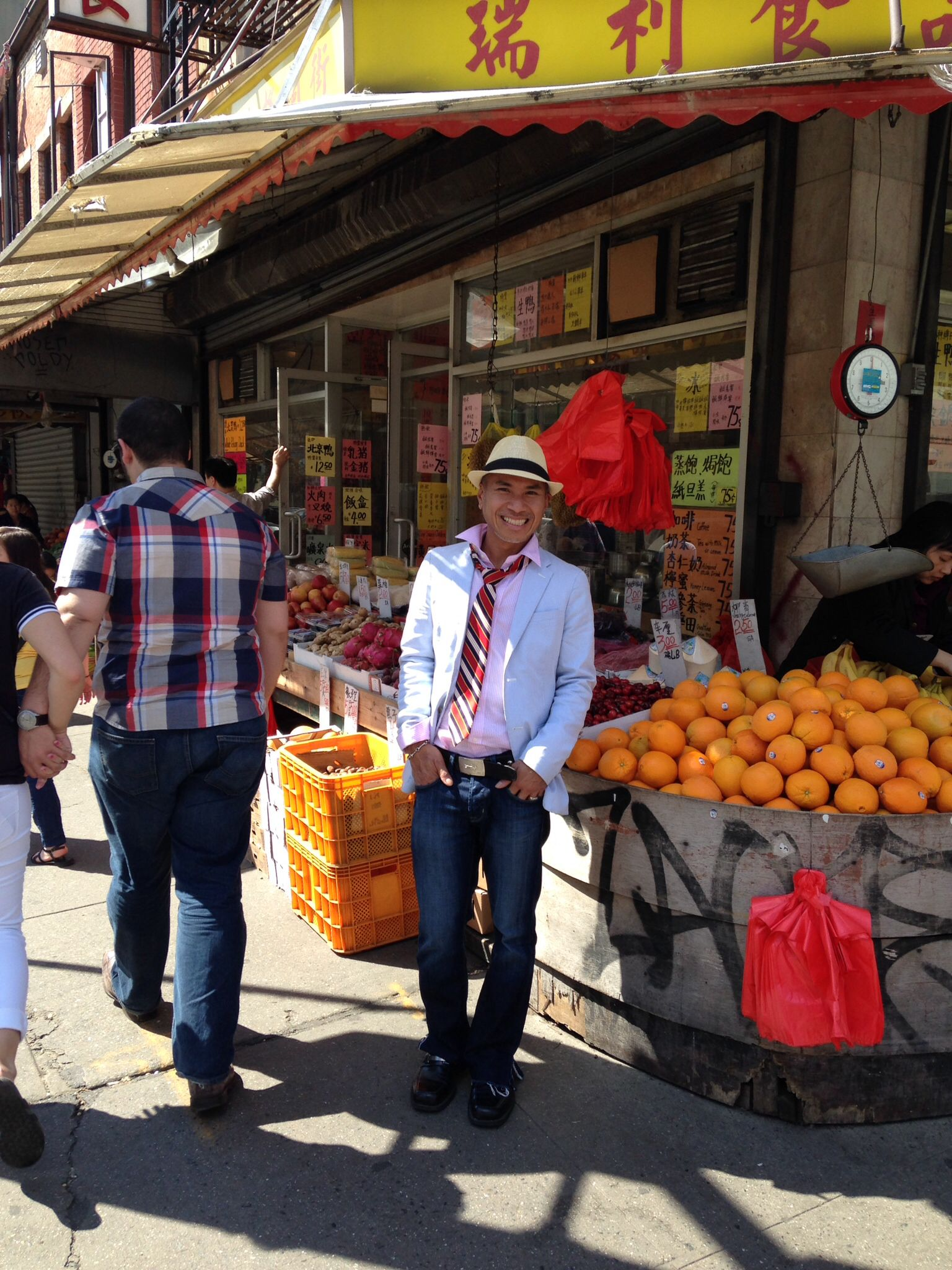Fresh Produce And Seafood Abound Here In China Town- You