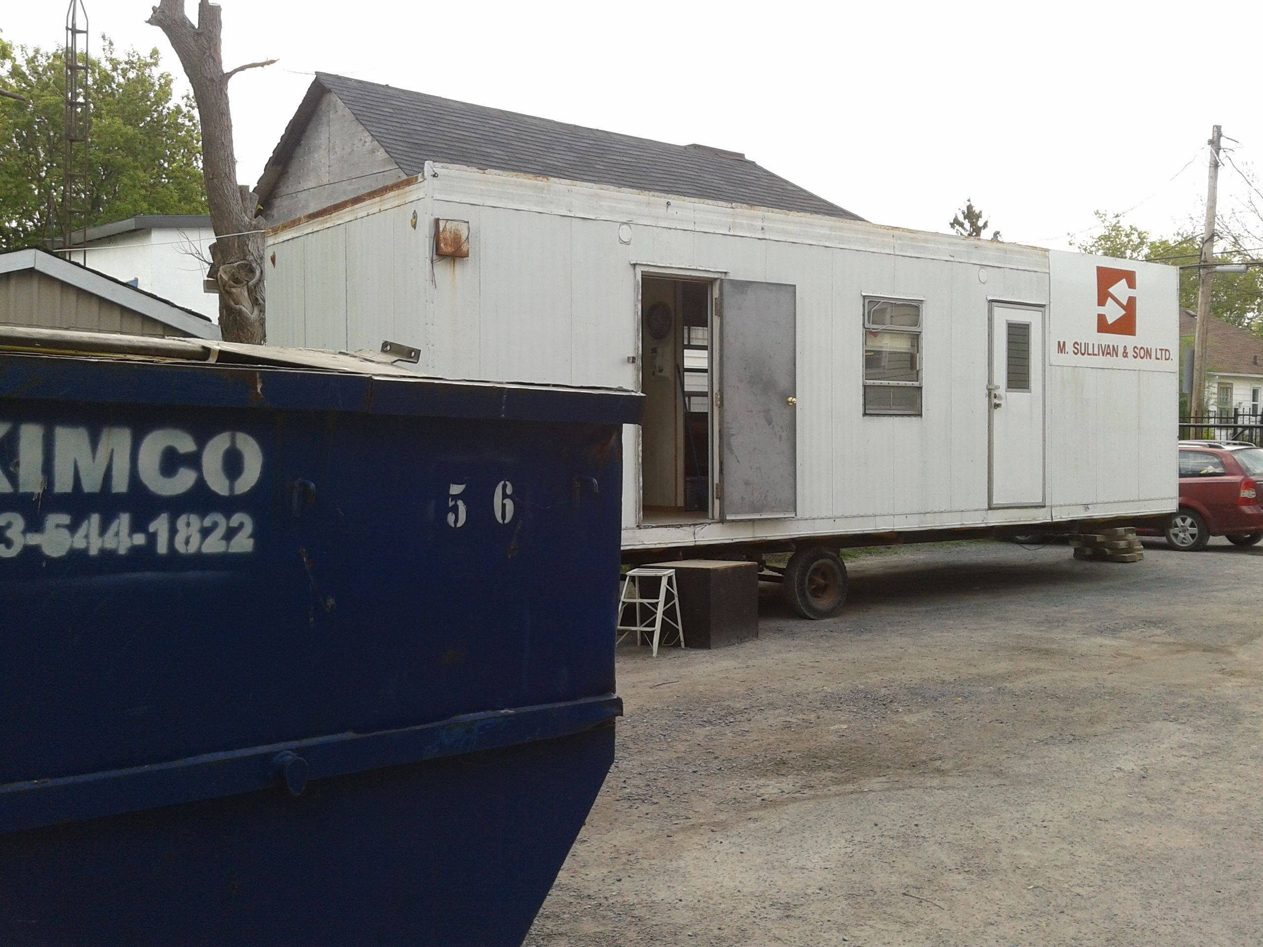 Check Our Super Fancy Office Trailer Renovations Week 1 Windsor Rapid Caravan Wiring Diagram House Building Tiny Homes