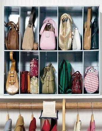 Come ordinare le borse nell'armadio e non solo, con ...