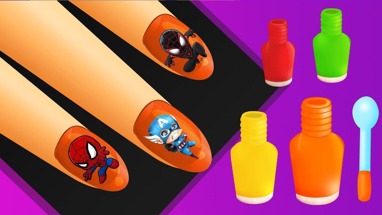 Learn Colors with Surprise Nail Art Designs   Colours to Kids ...