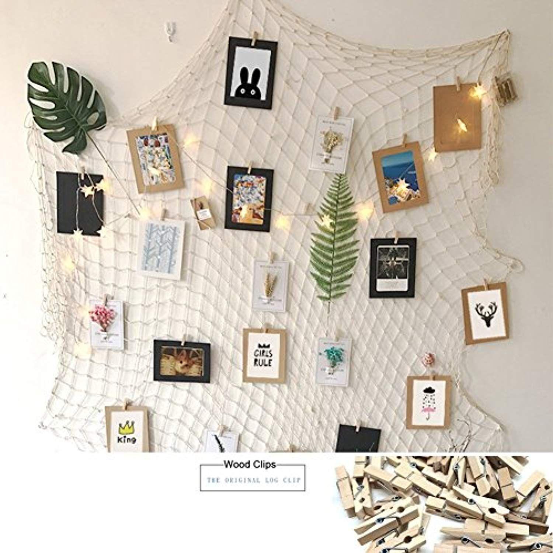 Joynic Photo Hanging Display Fish Net Wall Decorations Picture Frames Homedcor Fishing Net Wall Decor Wall Decor Pictures Decorating With Pictures