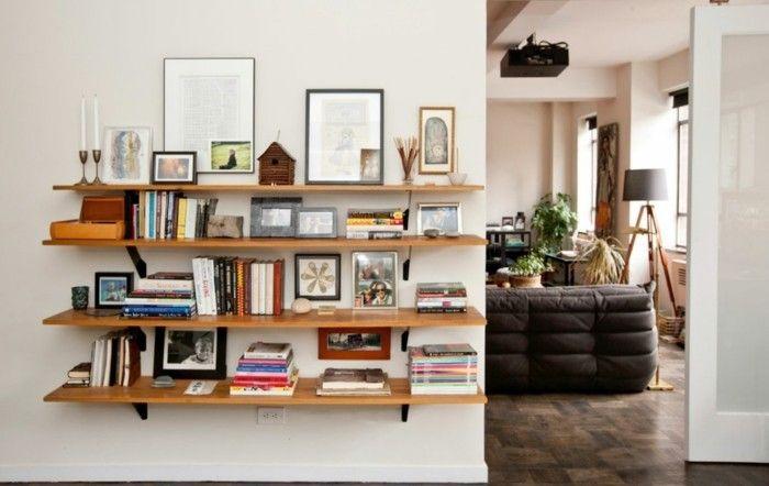 Buecherregal Wohnzimmer Regale Mit Vielen Fotos Und Bilder