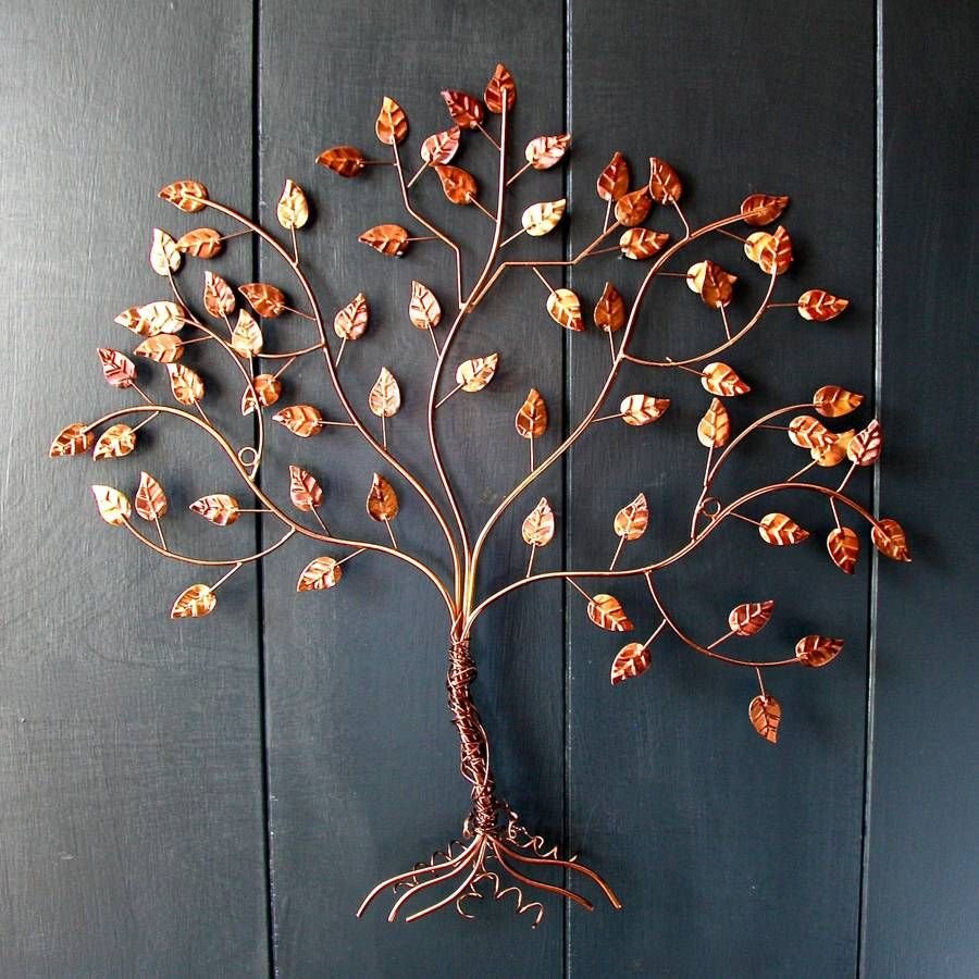 Wire Wall Decor Copper Wire Tree Of Life Wall Art  Wire Trees Tree Wall Art And