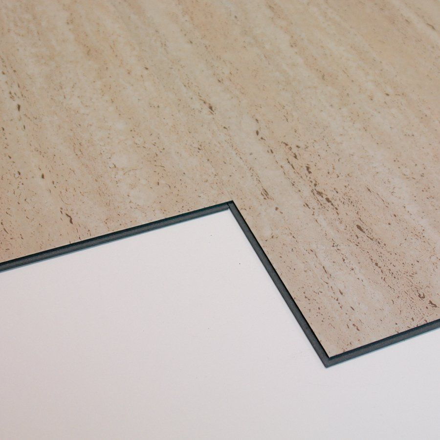 Versaclic 12 in x 24 in travertine marble floating vinyl tile at lowe 39 s canada dining room - Vinyl tile at lowes ...
