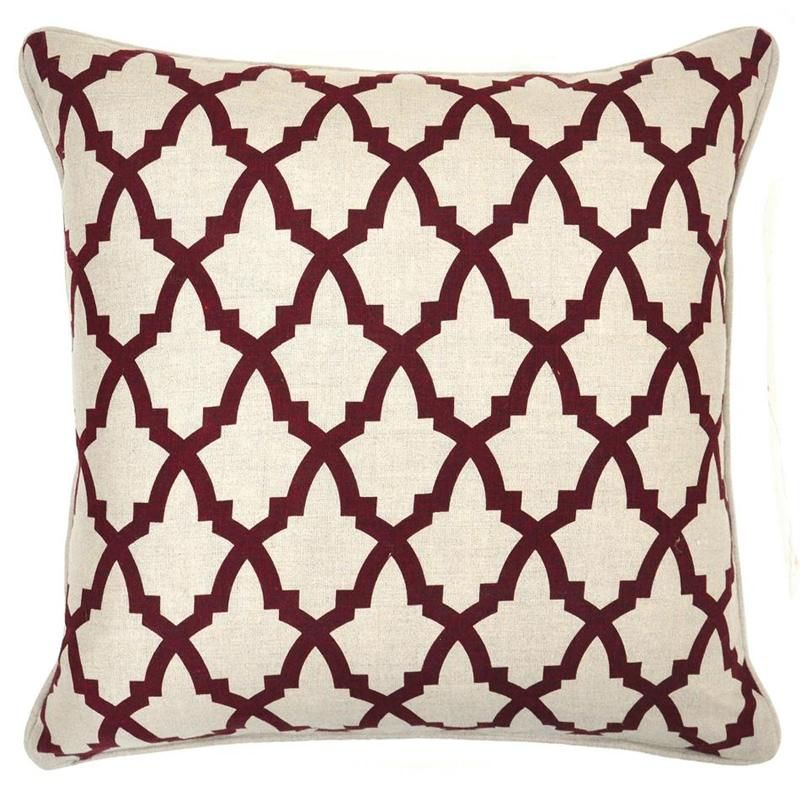 Serafina Burgundy Pillow Set Of 40 By Villa Home Collection Belle Inspiration Belle And June Home Decor