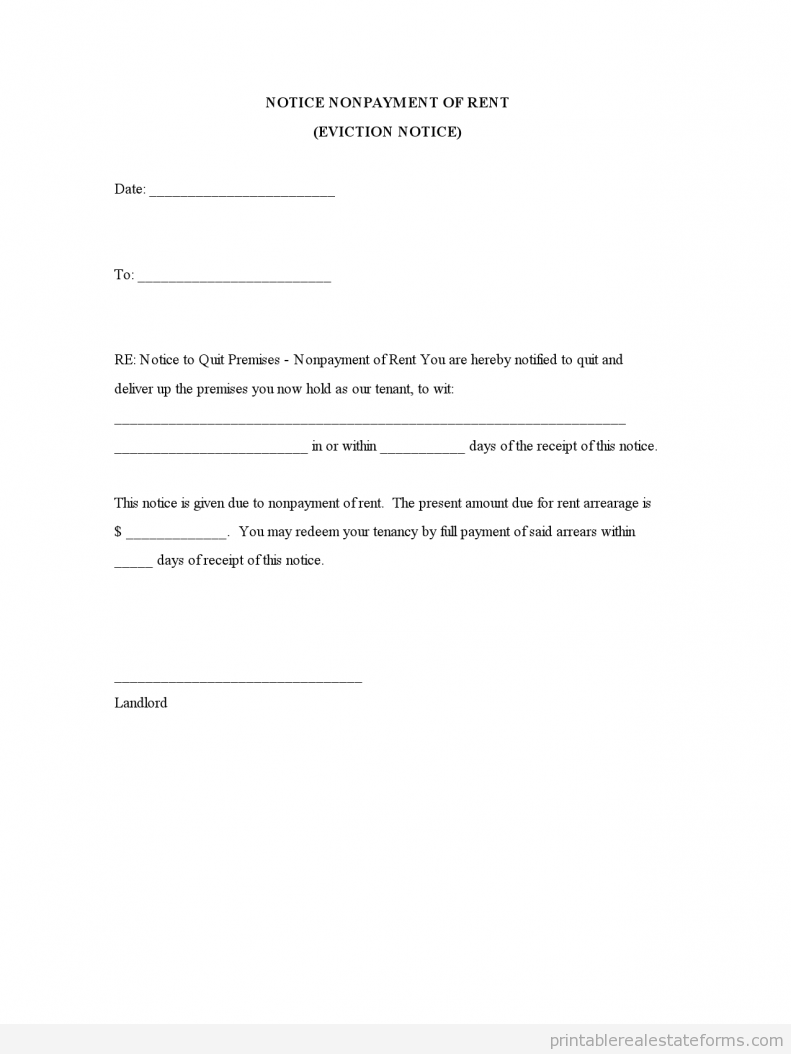 Eviction Letters Templates Notice Nonpayment Of Rent  Housing  Pinterest  Renting Template .