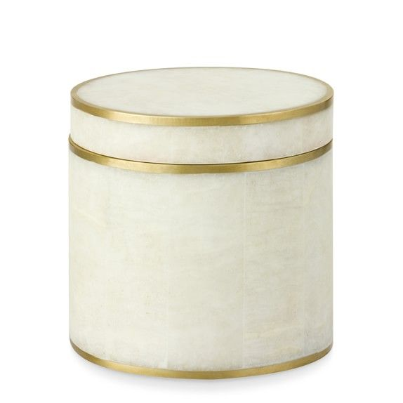 Brass Bordered Stone Jar
