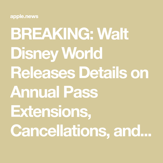 Walt Disney World Issues Additional One-Month Extension -7166