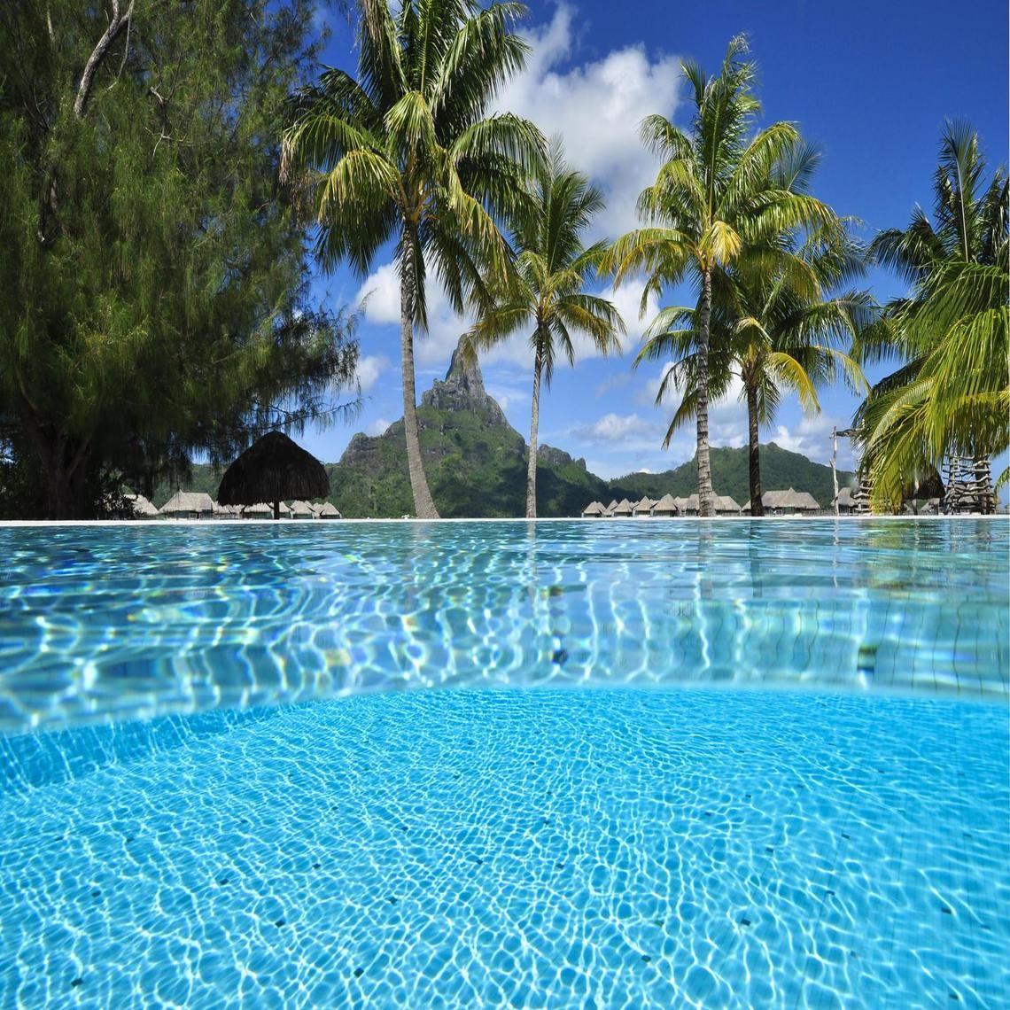 Through the Pool Bora Bora