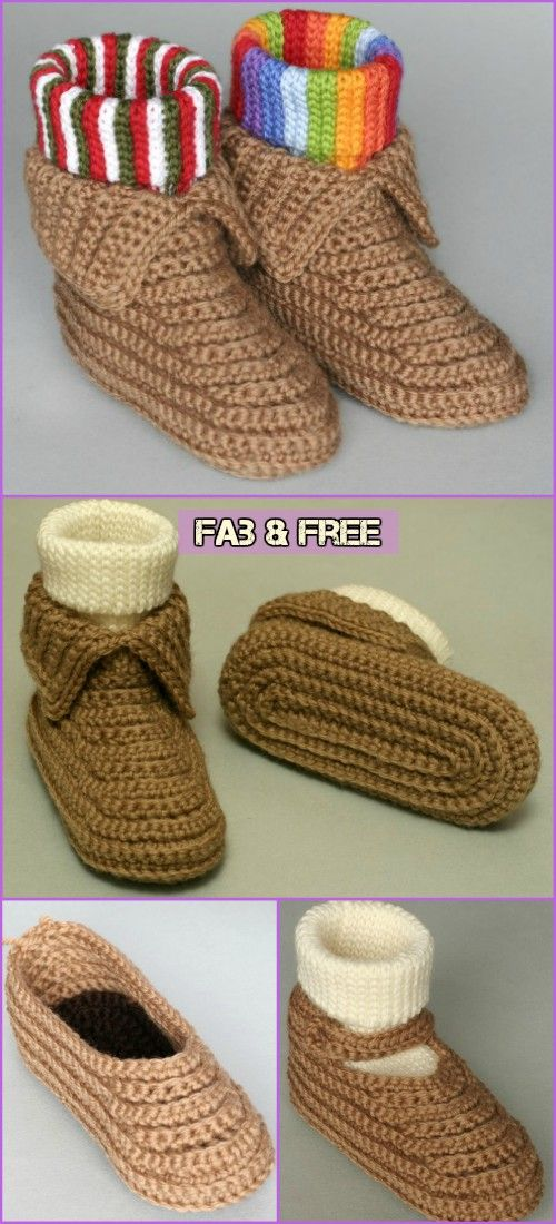 Crochet Soccasins Shoe Free Pattern | Crafts | Pinterest ...