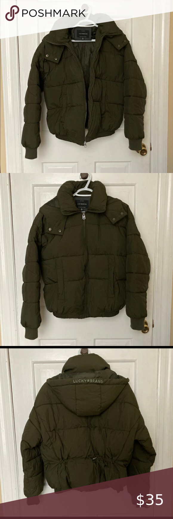 Olive Lucky Brand Puffer Coat Size Small Puffer Coat Olive Green Bomber Jacket Black Puffer Coat [ 1740 x 580 Pixel ]