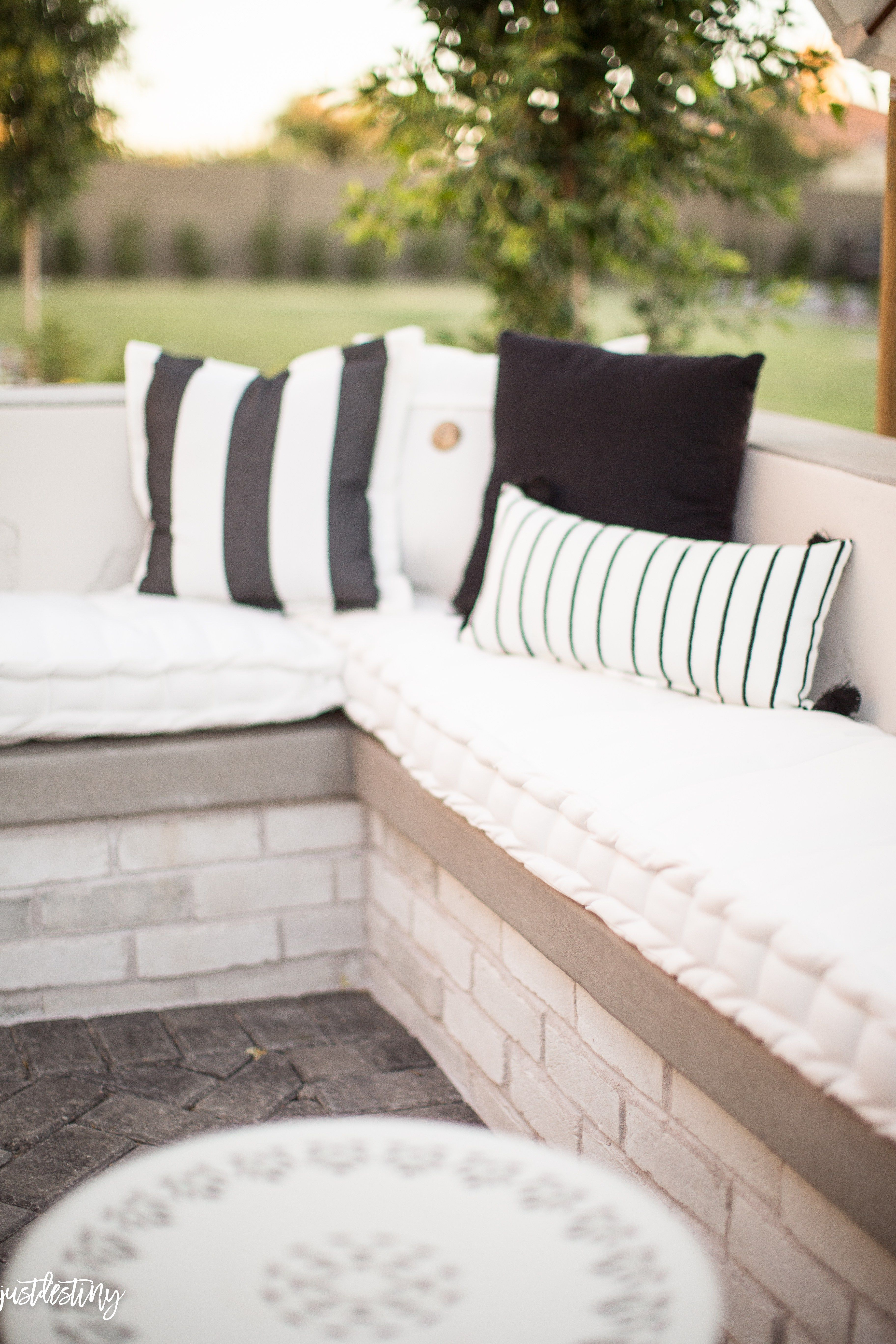 built in outdoor sofa just destiny backyard chronicles just