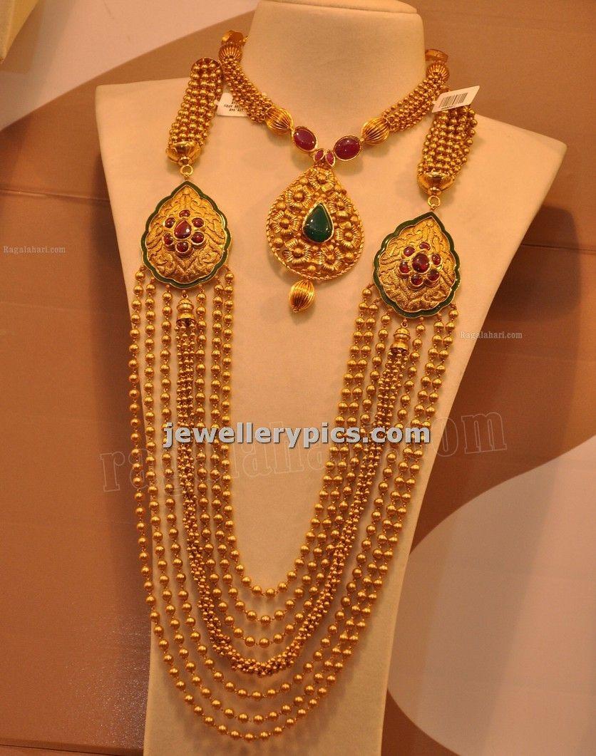 Malabar Gold Gundla Mala with 7 steps designs -Latest collection ...