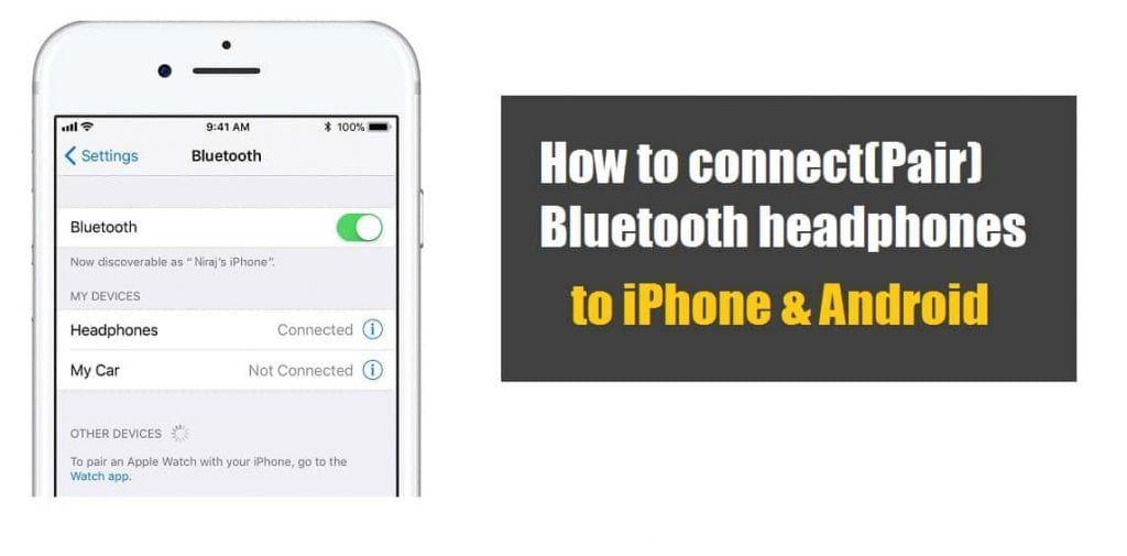 How To Connect Wireless Headphones To Iphone Android Phone Headphones Wireless Headphones Bluetooth Headphones