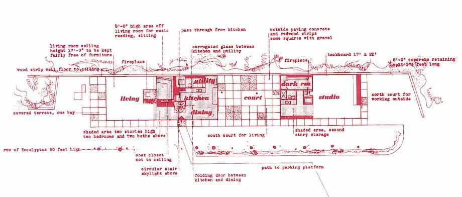 eames house case study   floor plan EYE ON DESIGN by Dan Gregory   WordPress com