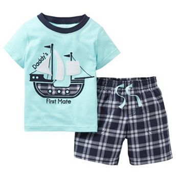 Kohls Baby Boy Clothes Best Carter's Ship Tee And Plaid Shorts Set Toddler Kohls Just For