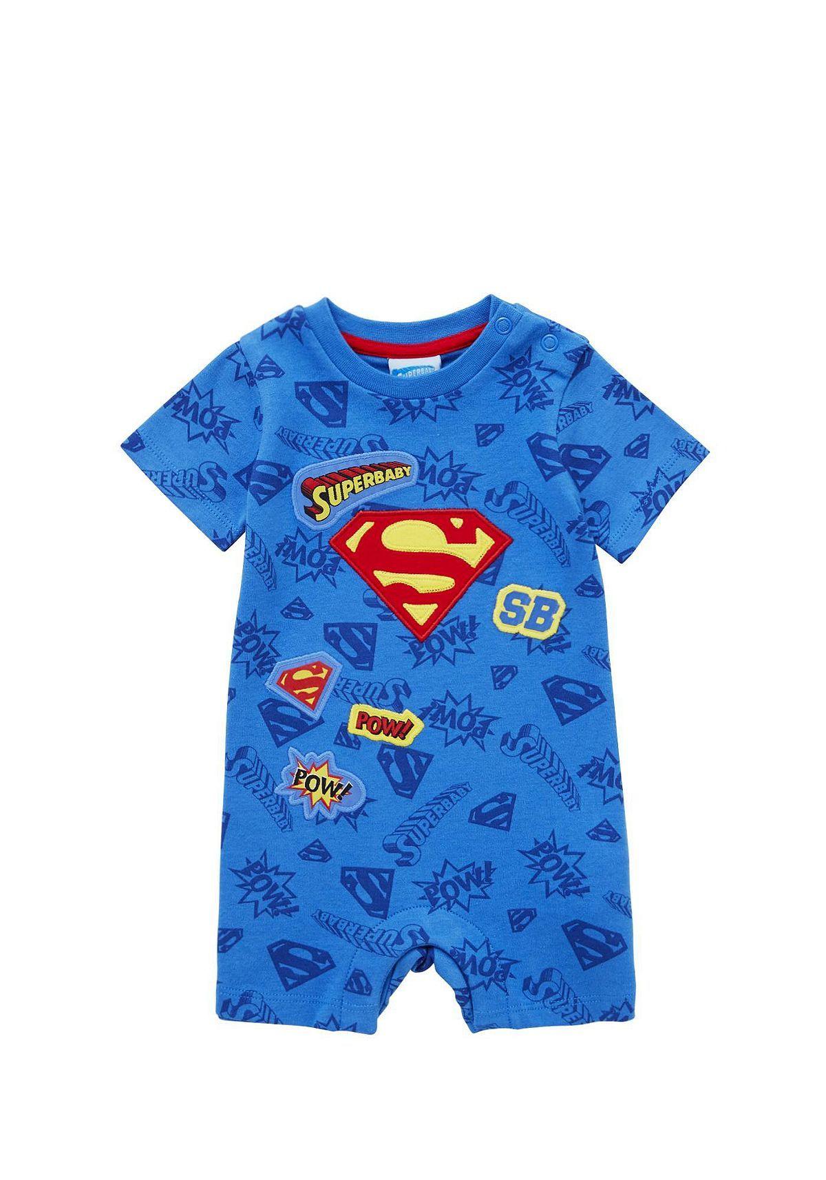 b07edefb Tesco direct: DC Comics Superman Romper Superman Baby, Baby Development,  Baby Essentials,