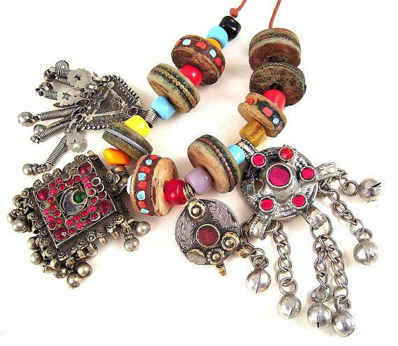 Vintage Treasure Tribal Destash Strand Set 4 by EthnicBeadShop, $14.50