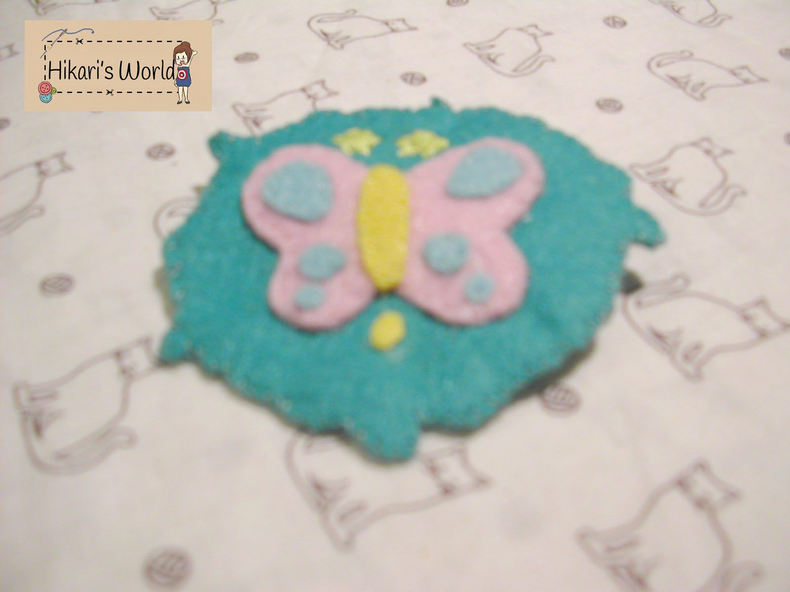Handmade pin of the symbol of the character Rei from the anime Free. $2.40
