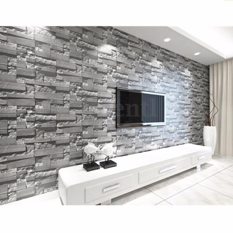 10m 3d Wallpaper Bedroom Mural Roll Modern Stone Brick Wall Background Textured Tasarim Evler Ev Oturma Odasi Yatak Odasi Duvar Kagidi