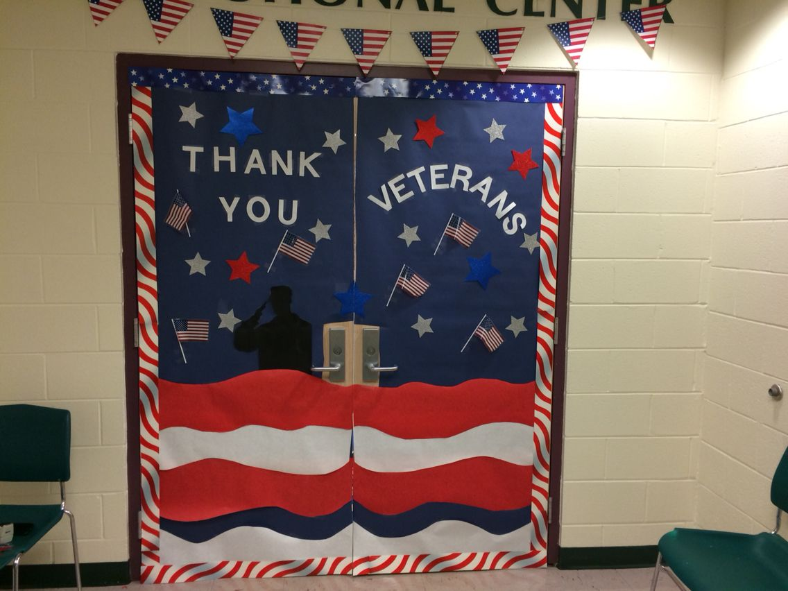 Veterans Day Classroom Door Decoration Ideas : Veterans day door decorations library displays