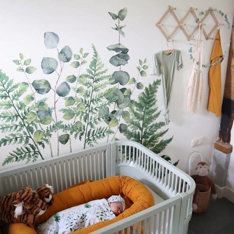 Urban Walls Muurstickers Ferns Eucalyptus Urban Walls Gras Onder Je Voeten Babykamer Decoratie Kinderkamer Gordijnen Muurstickers