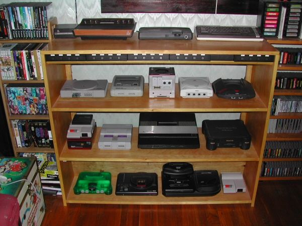video game console shelves Google Search Games room