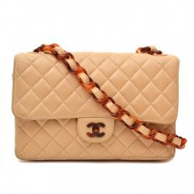 6ed8d2958b51c8 Chanel Classic Flap Bag Nude with Tortoise Details for the best price  available online at Labellov secondhand luxury