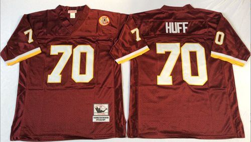 Mitchell And Ness Redskins  70 Sam Huff Red Throwback Stitched NFL Jersey  And  Falcons Keanu Neal jersey a94da9abb
