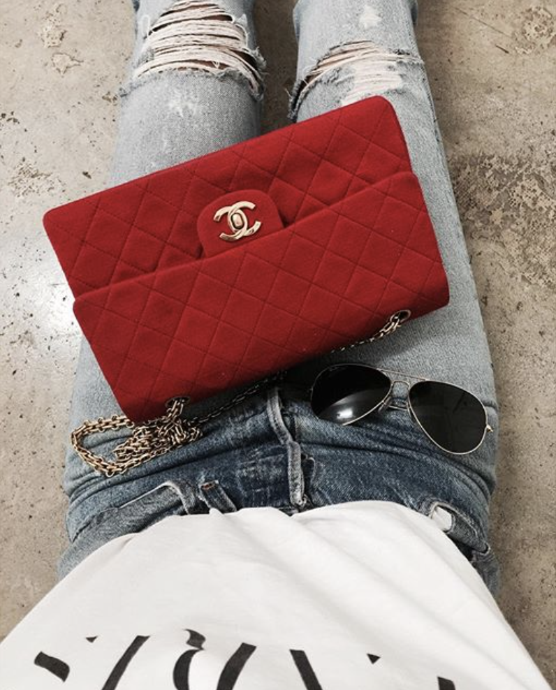 c7b85d51e451 red velvet chanel 2.55   shoes + bags   Bags, Red bags, Fashion