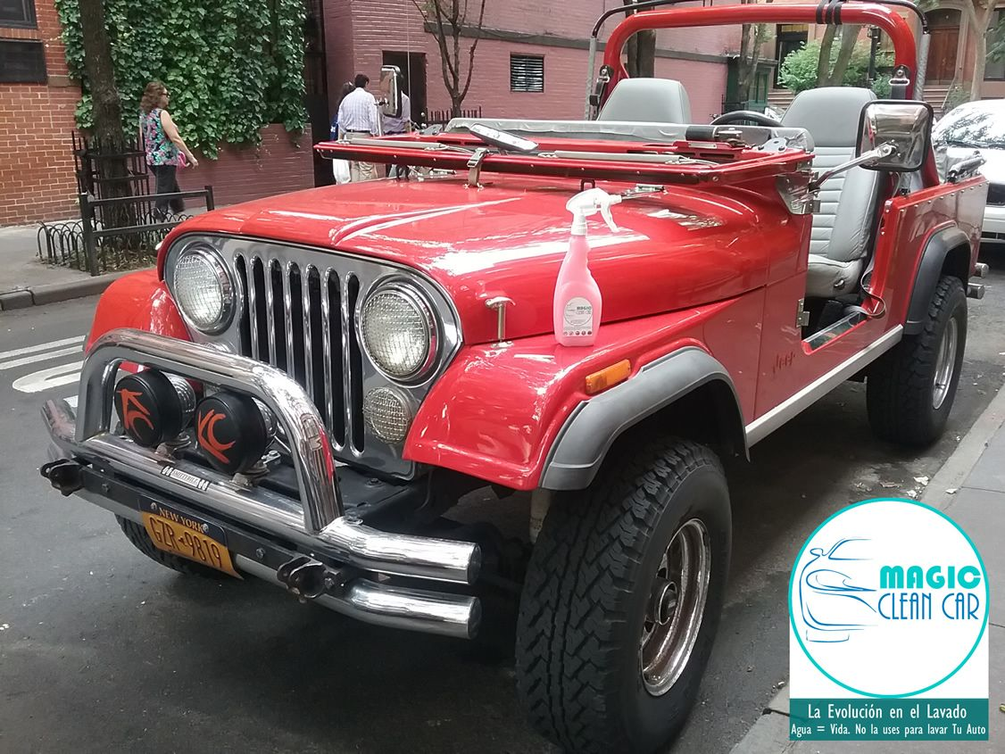 Cliente Magic Clean Car, El #Jeep brilla espectacular #Lavarsinagua -  La Evolución en el Lavado
