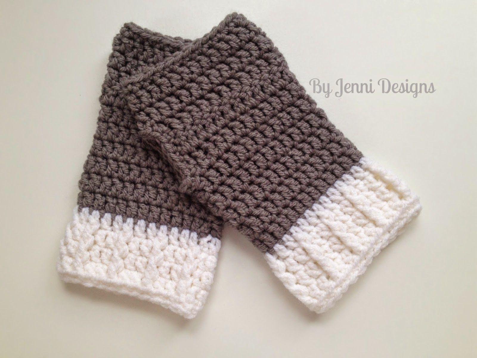 Knitting fingerless gloves in the round - By Jenni Designs Ribbed Cuff Fingerless Gloves Pattern