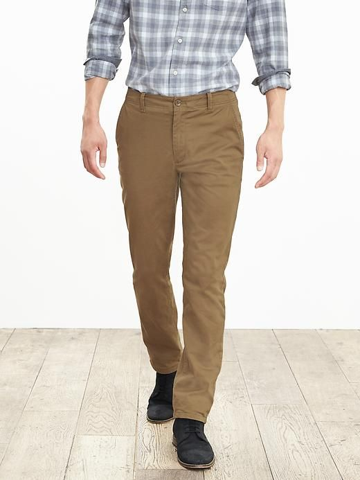 Aiden Slim Flannel-Lined Chino