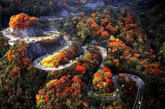 Iroha-Zaka Road, Japan (a section with 48 curves)