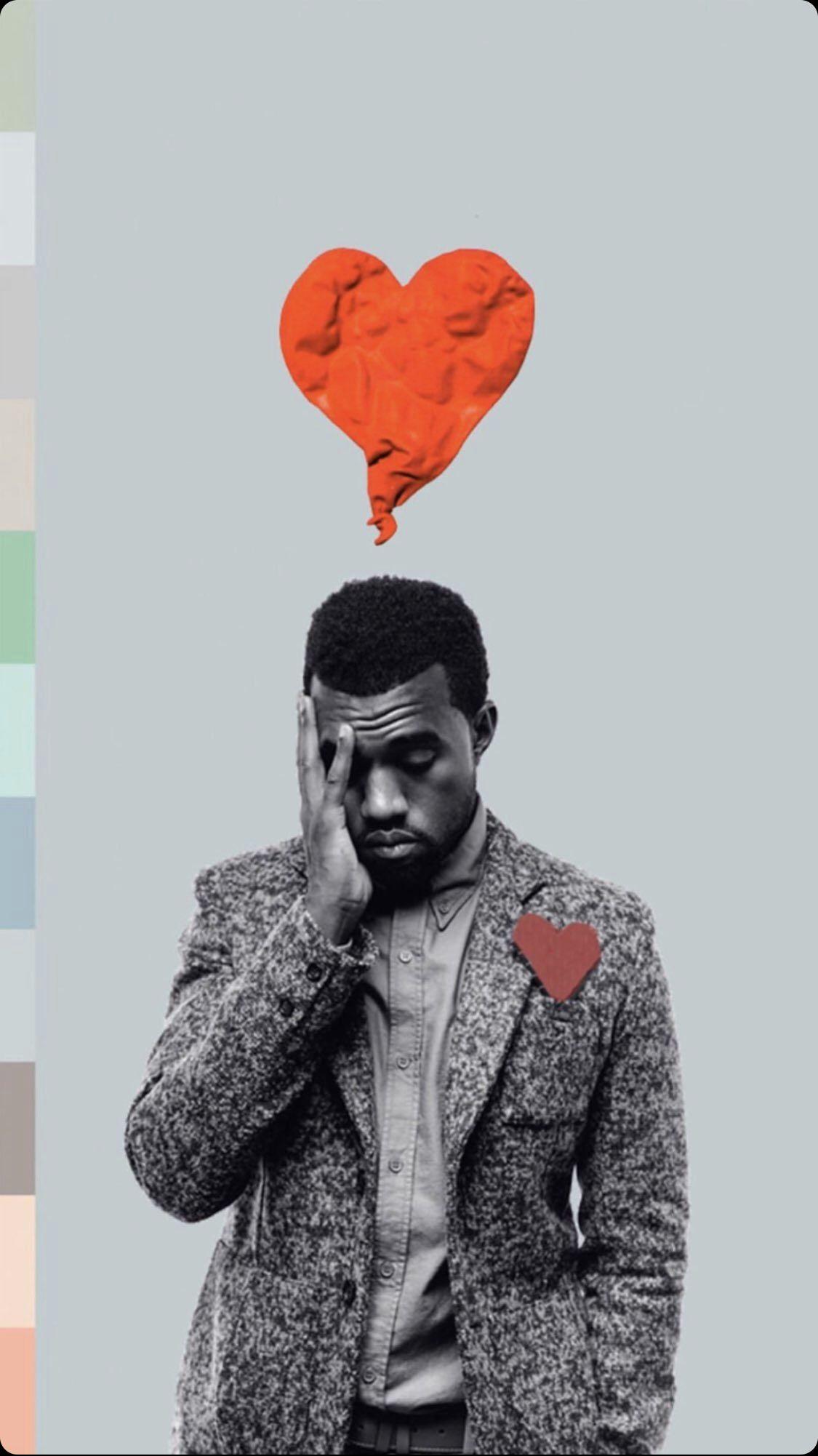 Pin By Jon Francois On Phone Wallpaper In 2020 Kanye West Tattoo Heartbreak Art Music Album Art