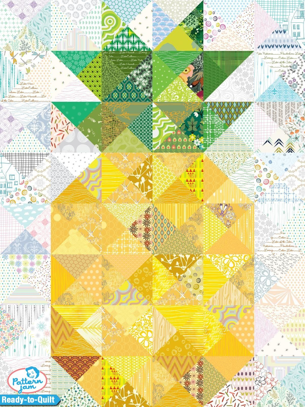 The Pine Apple - custom Ready-to-Quilt design created by ... : pineapple quilt tutorial - Adamdwight.com