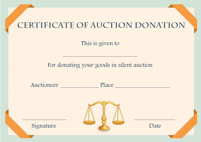 silent auction donation certificate template Silent auction - best of donation certificate template