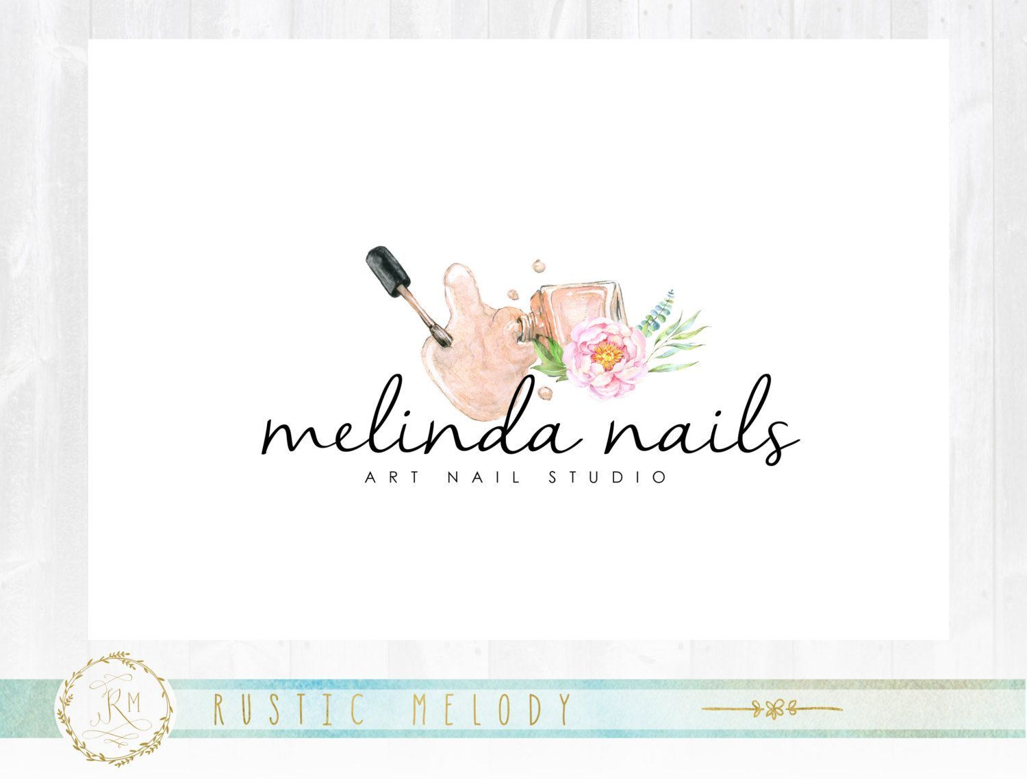 Nail Art Logo Beauty Logo Design Floral Logo Cosmetic Logo Design