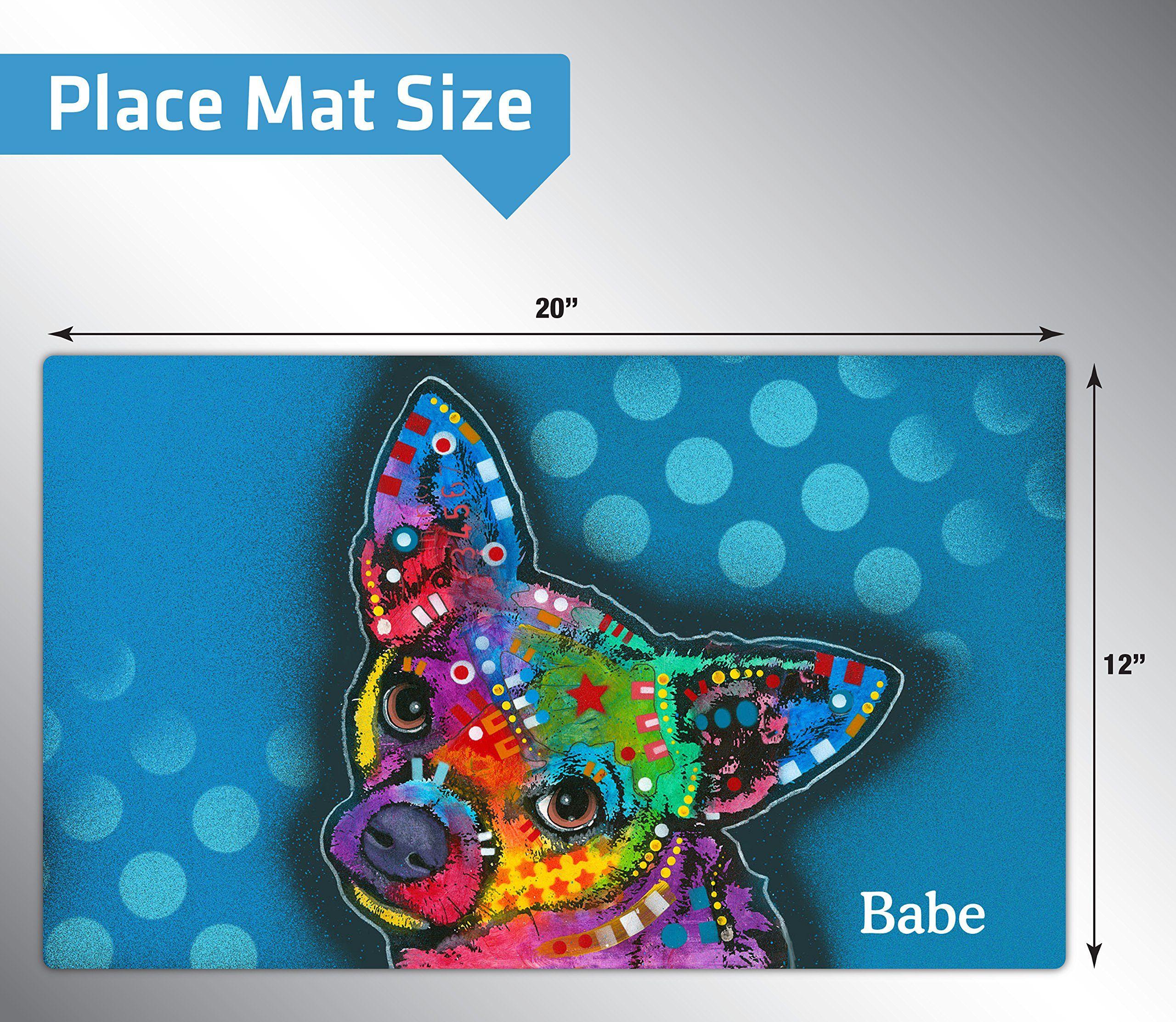 Drymate personalized pet placemat dean russo designs