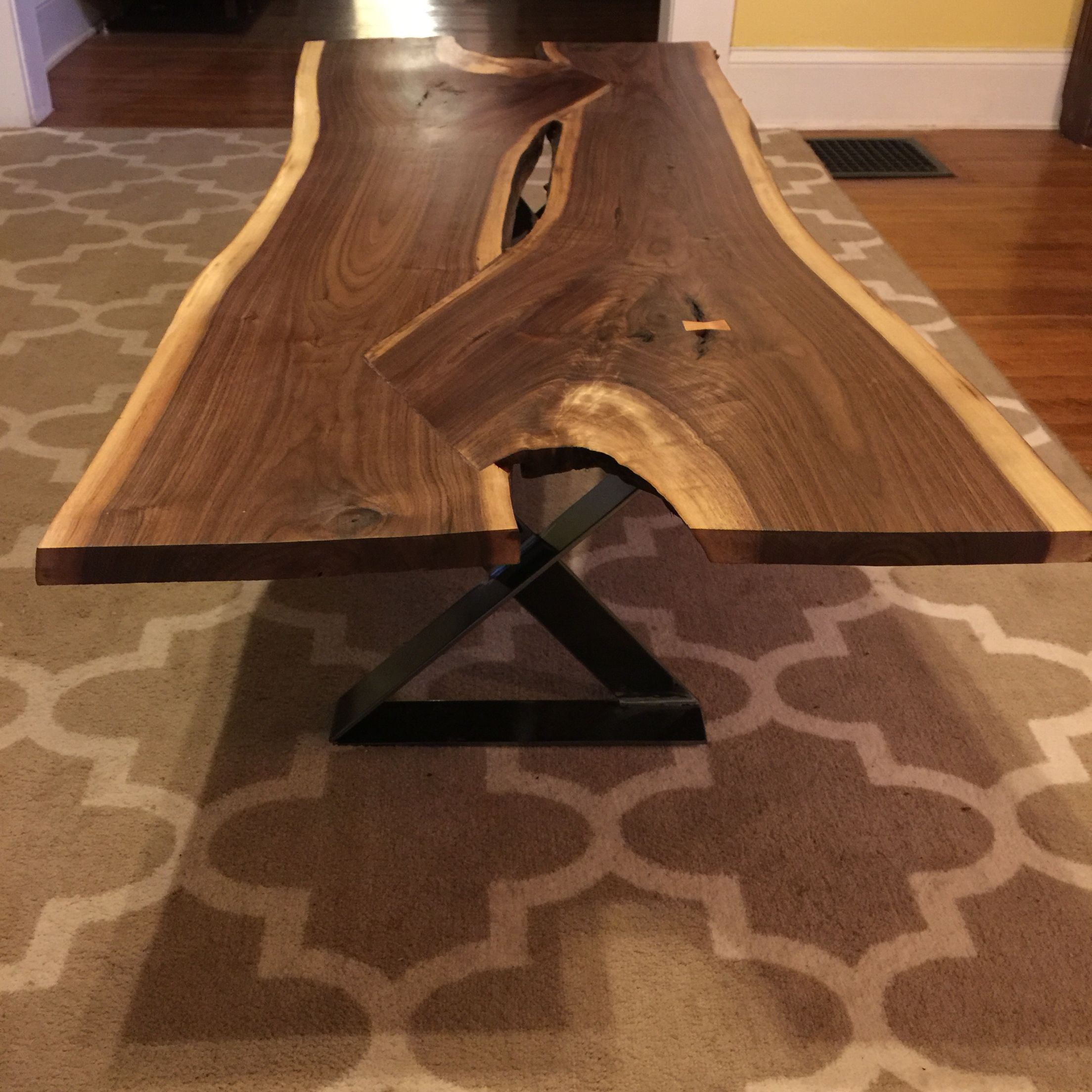 I just finished this live edge walnut coffee table Great for a high