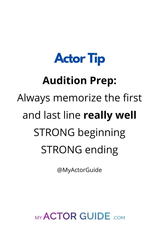 Audition Scene Prep