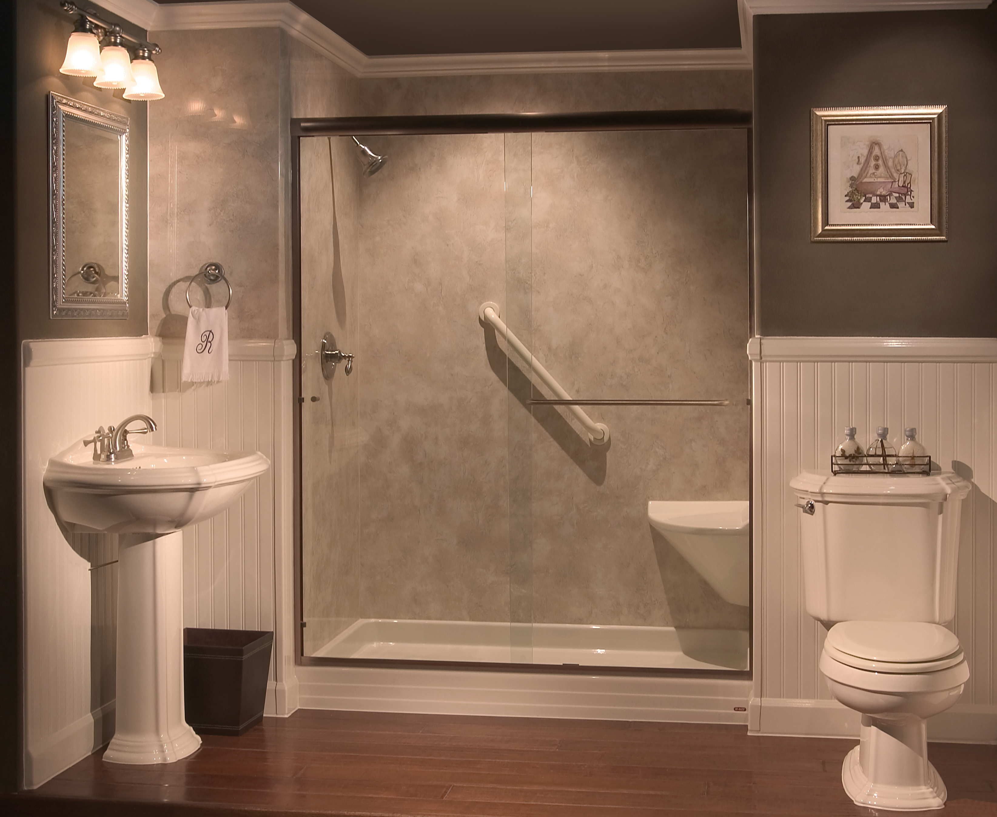 showers with seats built in | Tub-to-Shower Conversions ...