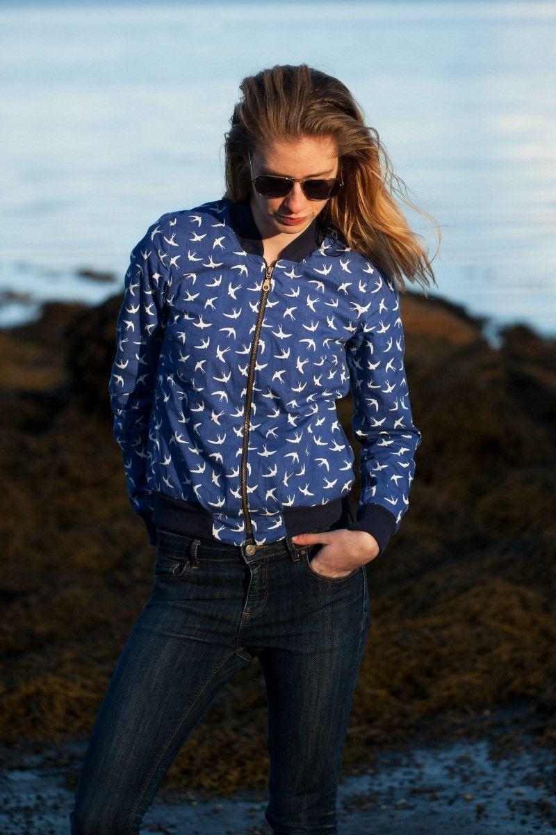 Amelia Bomber Jacket sewing pattern | Nähideen, Damenmode und ...