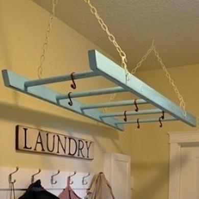 Deko f r gartenhaus aus einer leiter f r windlichter etc stricken pinterest badezimmer - Badezimmer leiter ...