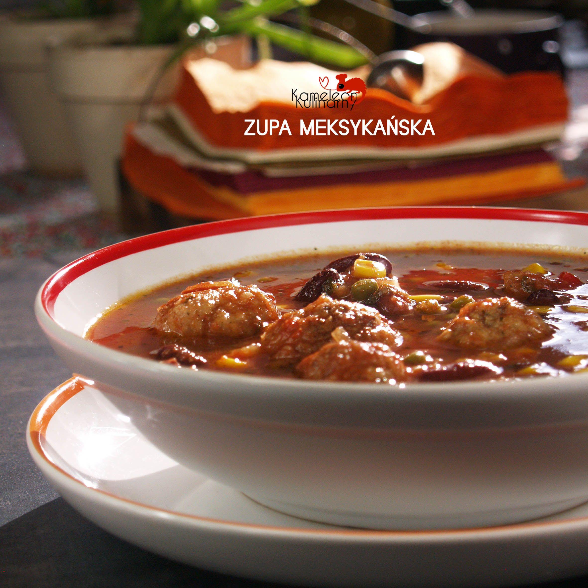 Zupa Meksykanska Z Miesnymi Kulkami Pozywna I Rozgrzewajaca Soup Food Chili