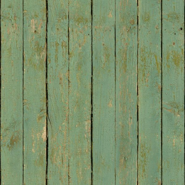 Weathered Turquoise Planks With Rotting Sides And Fading