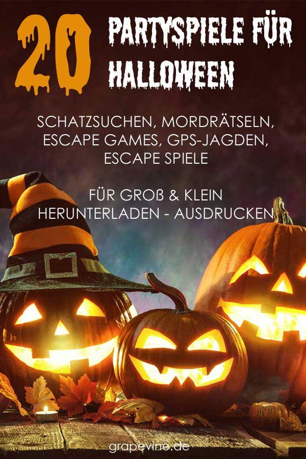 20 Partyspiele für Halloween