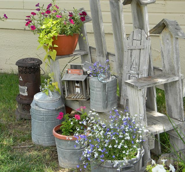 Shabby Chic Garden Spot. Shabby Chic Garden Spot   Repurposed Furniture   Other Household