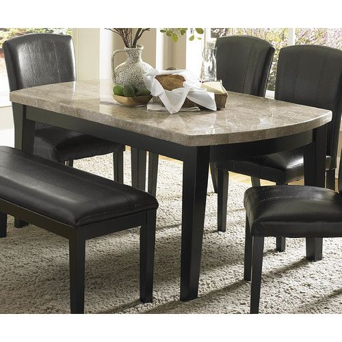 Woodhaven Hill Cristo 4 Piece Dining Set Dining Table Marble Granite Dining Table Marble Top Dining Table