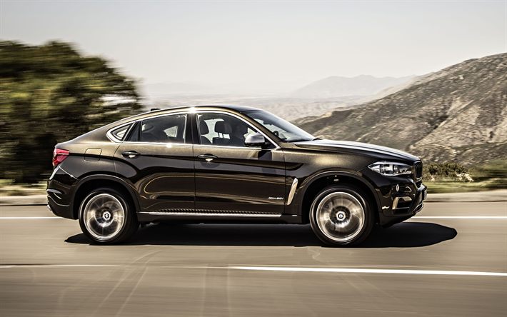 Download Wallpapers Bmw X6 2018 4k Exterior Side View Luxury